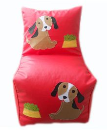 Kidzbash Bean Chair Cover Dog Print - Red