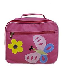 Kidzbash Lunch Box Bag Butterfly With Flowers - Pink