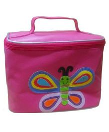Kidzbash Travel Pouch Single Butterfly Design - Pink