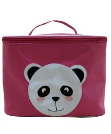 Kidzbash Travel Pouch Single Panda Design - Dark Pink