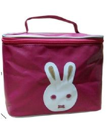 Kidzbash Travel Pouch Single Rabbit Design - Dark Pink
