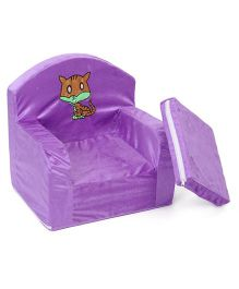 Luvely Kids Sofa Chair Cat Embroidery - Purple