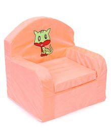 Luvely We Play Kids Sofa Chair Cat Embroidery - Peach