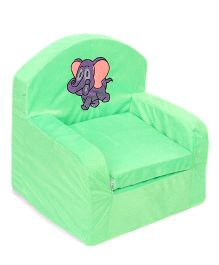 Luvely Kids Sofa Chair Elephant Embroidery - Green