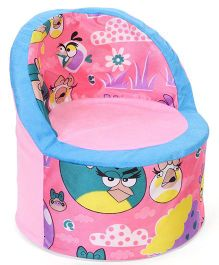 Luvely Kids Smart Sofa Angry Birds Print - Light Pink Blue