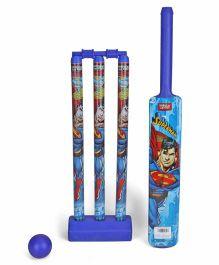 DC Comics Superman Plastic Cricket Set - Navy Blue