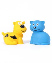 Giggles Animal Shaped Squeaky Bath Toys Pack of 2 - Blue Orange
