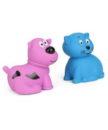 Giggles Animal Shaped Squeaky Bath Toys Pack of 2 - Purple Blue