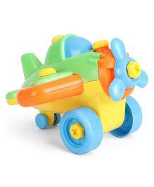 Playmate Assembling Aeroplane - Green And Yellow