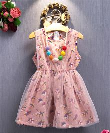 Aww Hunnie Small Flower Printed Dress - Baby Pink