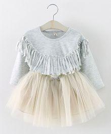 Aww Hunnie 2 Piece Tutu Dress - Grey