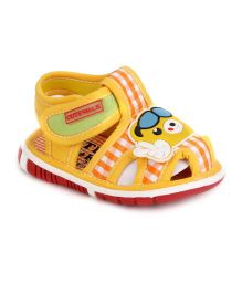 Cute Walk by Babyhug Sandals - Yellow