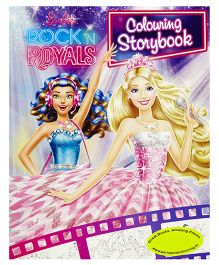 Barbie Rock 'n Royals Colouring Storybook - English