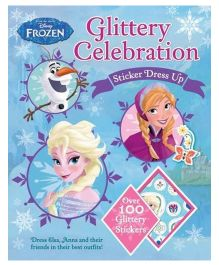 Disney Frozen Glittery Celebration Sticker Dress Up - English