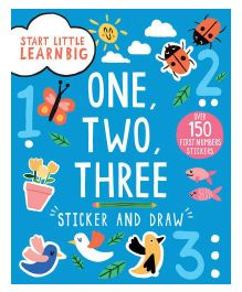 Start Little Learn Big One, Two, Three Sticker And Draw - English