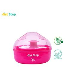 1st Step Powder Box With Puff - Pink White