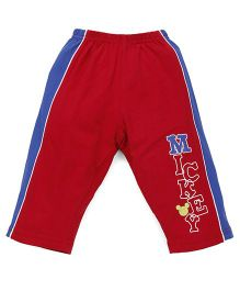 Bodycare Three Fourth Track Pants Mickey Print - Red Blue