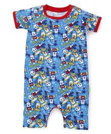 Bodycare Short Sleeves Romper Cartoon Print - Blue