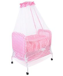 Babyhug Sleep In Cradle Polka Dot Print - Pink