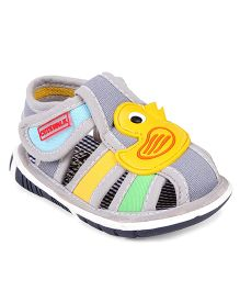 Cute Walk by Babyhug Sandals Duck Motif - Grey