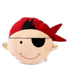 Play Toons Boy Face Cushion - Red Cream