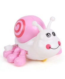 Playmate Wind Up Snail - White Pink