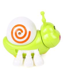Playmate Wind Up Snail Toy - Green White