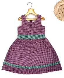 Marshmallow Fit N Flare Checkered Dress  - Pink