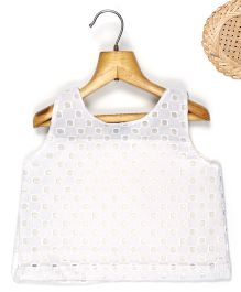 Marshmallow Cutwork Bodice Top - White