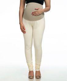 Kriti Full Length Maternity Leggings - White