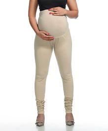 Kriti Full Length Maternity Leggings - Beige