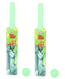 Tom And Jerry Bat and Ball Set Pack Of 2 (Color May Vary)