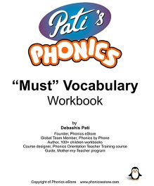 Phonics Must Vocabulary Book - English