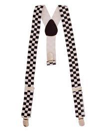 Miss Diva Checkquered Suspender - Black & White