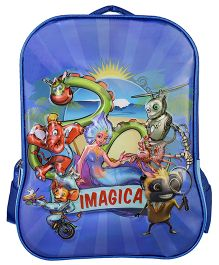Imagica Character Embossed School Bag Blue - 16 inch