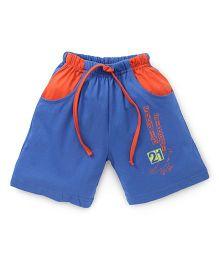 Fido Drawstring Shorts Skate Print - Blue & Orange