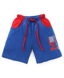 Fido Drawstring Shorts Marine Print - Blue & Red