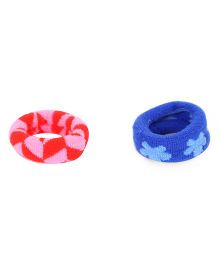 Glixie Hair Rubber Pack of 2 - Royal Blue Dark Pink