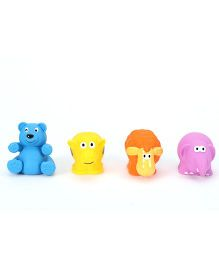 Giggles Animal Shaped Squeaky Bath Toys Pack of 4 - Blue Multicolour