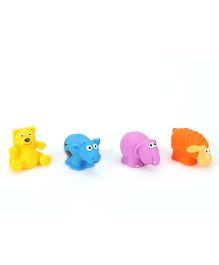 Giggles Animal Shaped Squeaky Bath Toys Pack of 4 - Multicolour