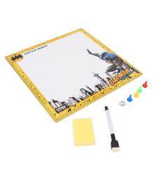 DC Comics Batman 2 in 1 Writing And Game Board - Yellow White