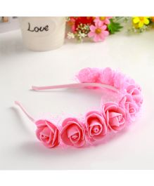 Tickles 4 U Rose Headband  -  Pink