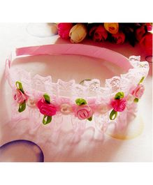 Tickles 4 U Lace Headband - Pink