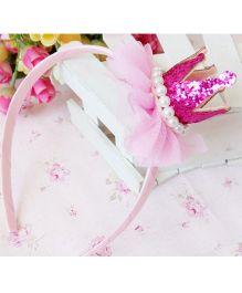 Tickles 4 U Crown Applique Hair Band - Pink