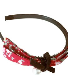 Tickles 4 U Printed Bow Headband - Red