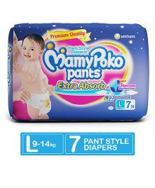 MamyPoko Extra Absorb Pant Style Diapers Large - 7 Pieces