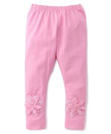 Babyhug Full Length Leggings Floral Design - Pink