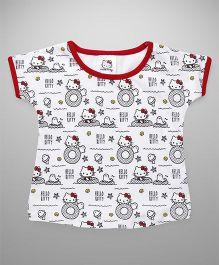 Hello Kitty by Babyhug Short Sleeves Tee - White