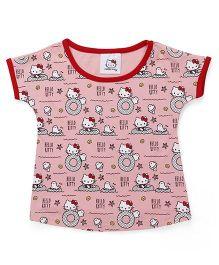 Hello Kitty by Babyhug Short Sleeves Tee - Pink