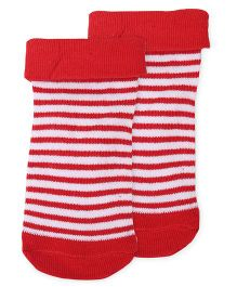Cute Walk by Babyhug Anti-Bacterial  Stripes Socks - Red White